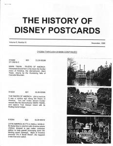 "Susan Ferdig's ""The History of Disney Postcards"" v6#1"